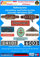 Railwayana Auction March 2019