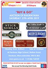 Railwayana Auction April 2019