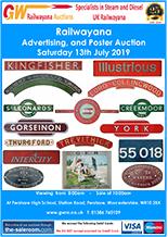 Railwayana Auction July 2019