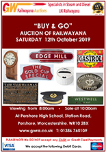 Railwayana Auction October 2019