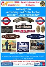 Railwayana Auction November 2019