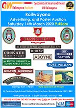 Railwayana Auction March 2020
