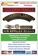 Railwayana Auction July 2016
