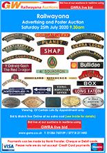 Railwayana Auction July 2020