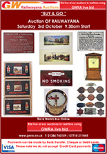 Railwayana Auction October 2020