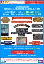 Railwayana Auction November 2020
