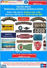 Railwayana Auction March 2021