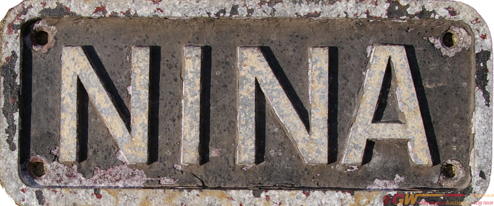 Nameplate NINA, Alloy Construction Measuring Just