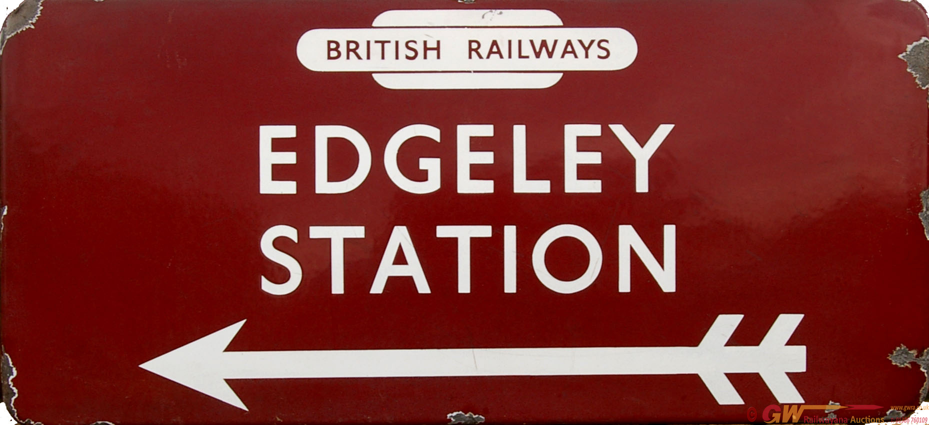 British Railways (M) Enamel Station Direction Sign