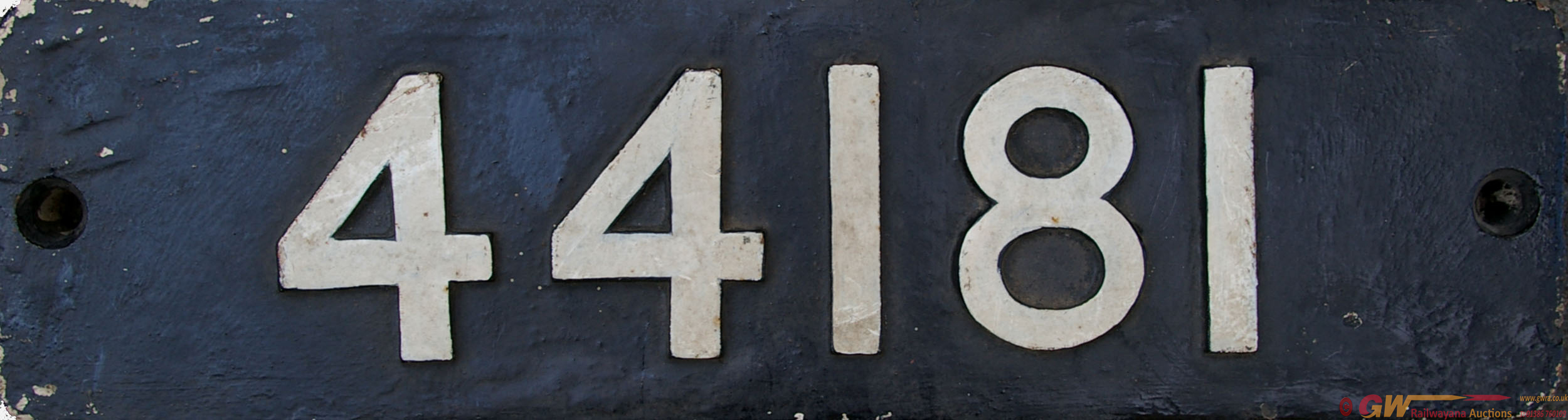Smokebox Numberplate 44181. Ex LMS 4f 0-6-0 'Duck'