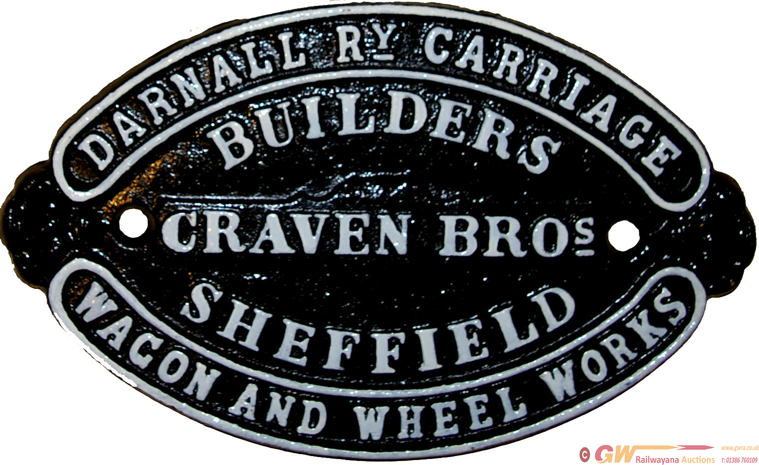 Wagon Plate 'Craven Bros, Darnall Rly Carriage &