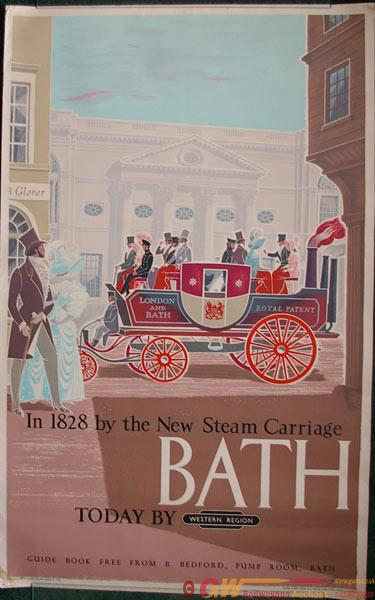 Poster, British Railways D/R Western Region 'Bath