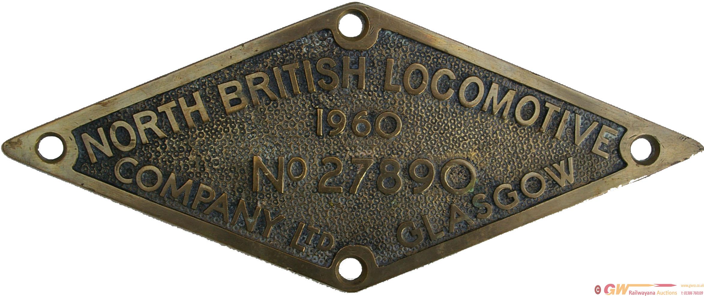 Worksplate, North British Locomotive Company Ltd.,
