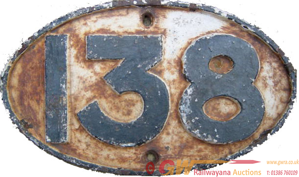 Furness Railway C/I Bridgeplate No 138