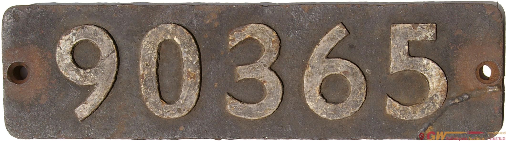 Smokebox 90365. Ex WD 2-8-0 Austerity Locomotive