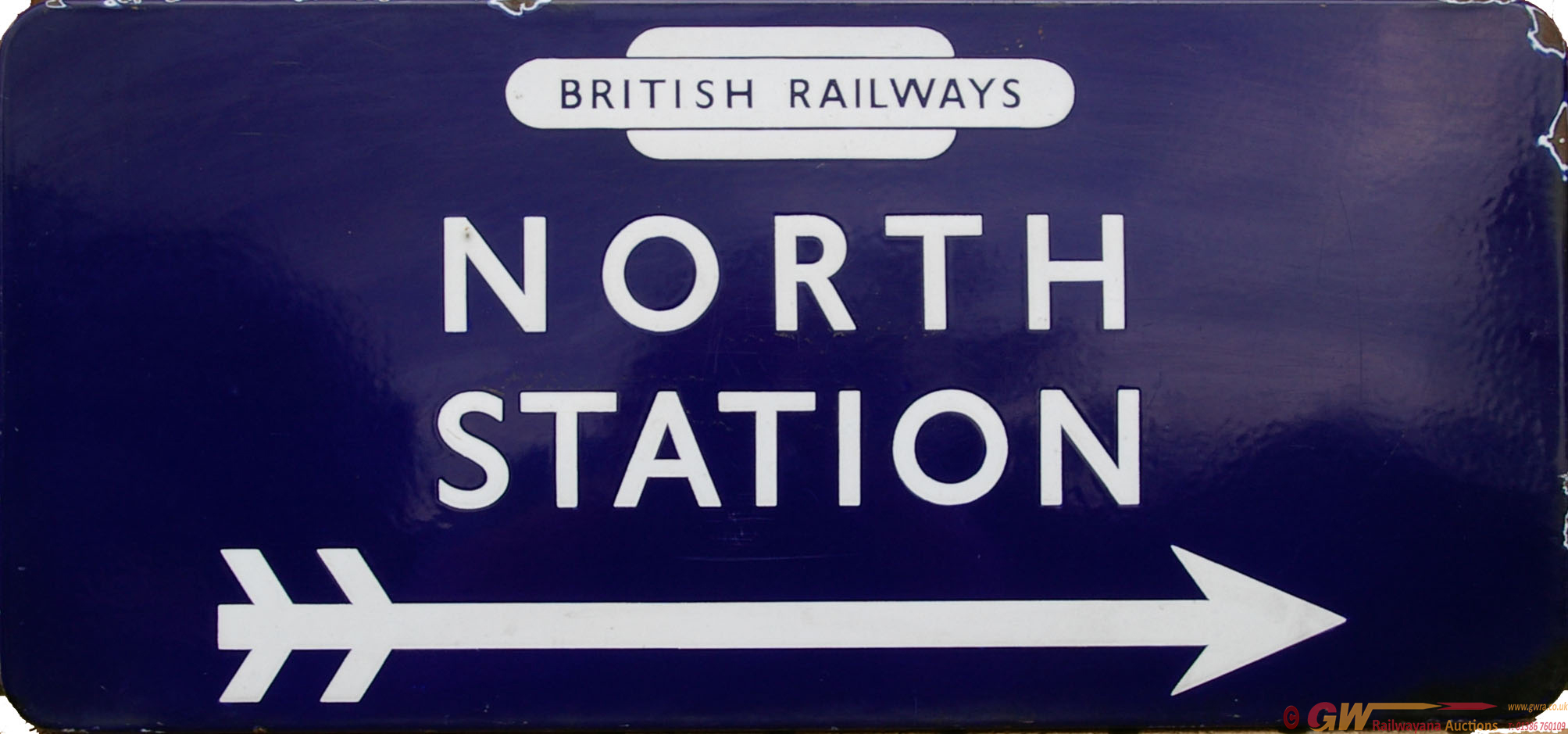 British Railways(E) Enamel Station Direction Sign,