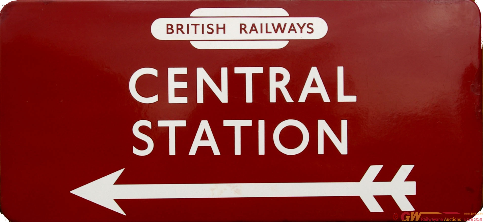 Station Direction Sign, British Railways CENTRAL