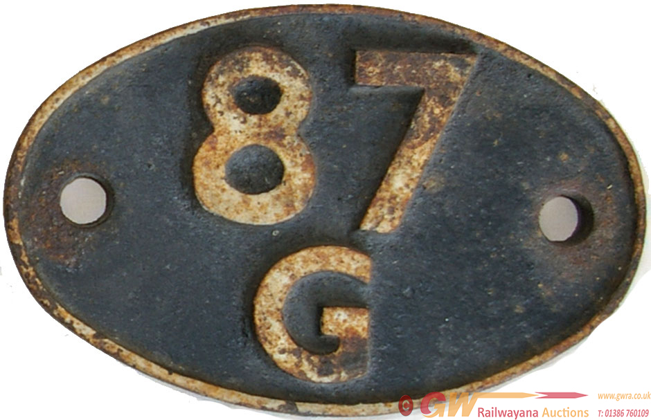 Shedplate 87g Carmarthen From 1948 Until April