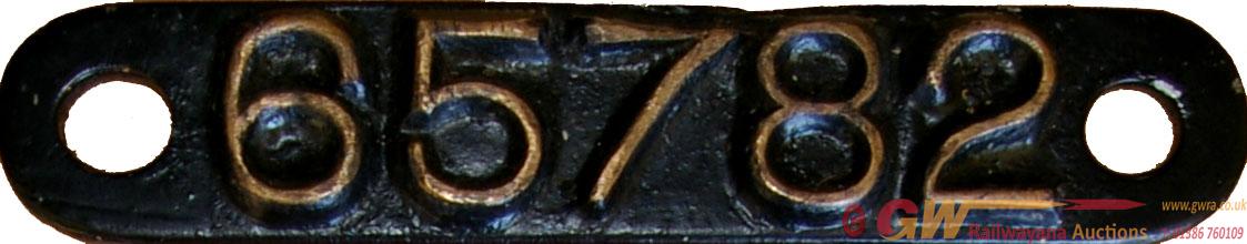 LNER 9X5 Works Numberplate Brass Strip 65782. Ex