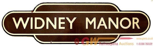 Totem, BR(W) WIDNEY MANOR, F/F. Ex GWR Station