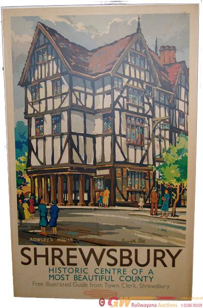 Poster, BR Western Region D/R 'Shrewsbury Rowley's