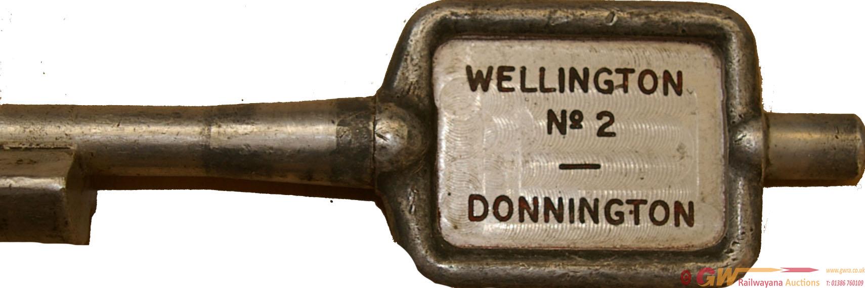 Alloy Key Token WELLINGTON No 2 - DONNINGTON. Ex