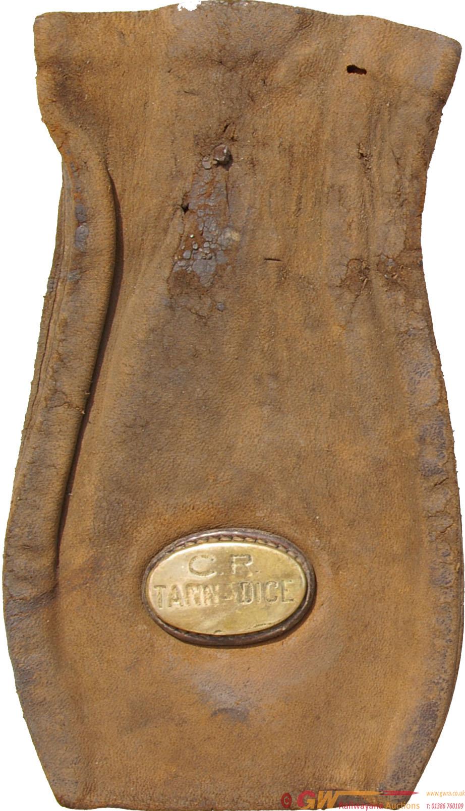 Caledonian Railway Leather Cash Bag Bearing A