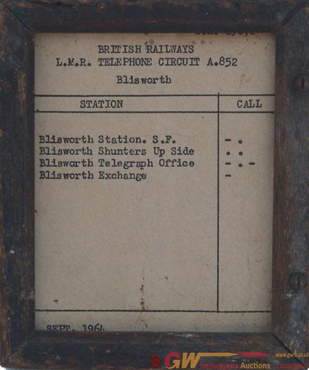 BR LMR Telephone Circuit Card In Original Frame,