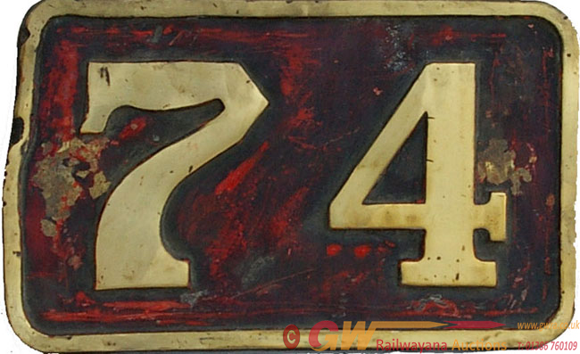 Cabside Numberplate 74, Ex Manchester Ship Canal