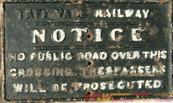 Taff Vale Railway C/I Notice, Fully Titled '