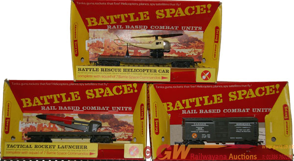 Triang Hornby Boxed Battle Space Models, Qty 3
