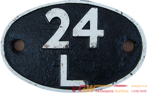 Shedplate 24l, Carnforth Until September 1963. C/I