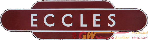 Totem BR(M) ECCLES, F/F. Ex LNWR Station Between