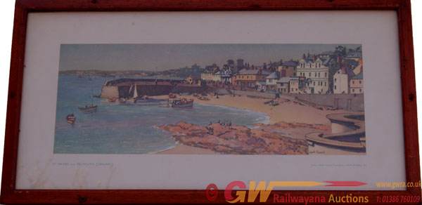 Carriage Print  St Mawes Near Falmouth Cornwall
