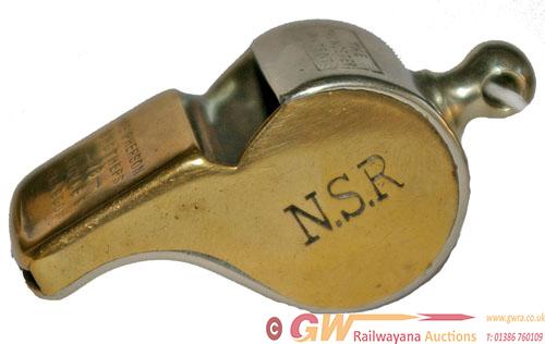 North Staffordshire Railway Brass Thunderer Patent