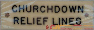 GWR Ivorine Signal Box Instrument/Shelf Plate