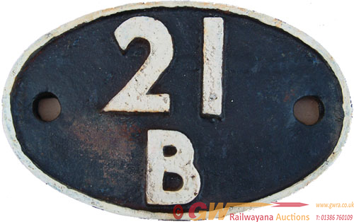 Shedplate 21b Bournville Until February 1960 And