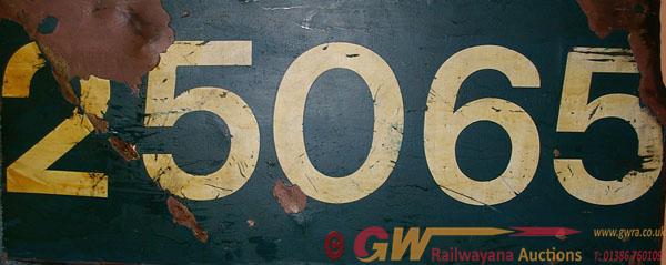 Flamecut Cabside Panel 25065. Ex British Railways