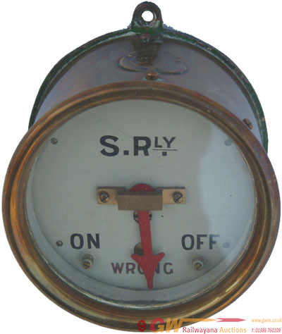Southern Railway Brass Cased SYX Signal Indicator