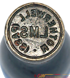 LMS Brass Seal With Black Wooden Handle 'LMS