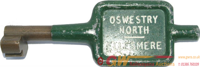 Alloy And Brass Key Token OSWESTRY NORTH -