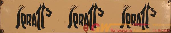 Spratts Advertising Enamel Sign Depicting The