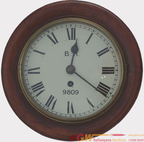 LNER / GNR 8 Inch Mahogany Cased Fusee Clock No