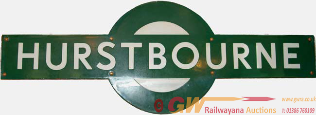 Southern Railway Target, HURSTBOURNE. Ex LSWR