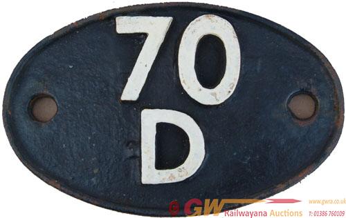 Shedplate 70d Basingstoke Until September 1963 And