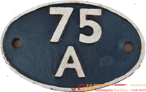 Shedplate 75a Brighton Until May 1973. Face
