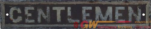 GWR Flat Border Style C/I Doorplate GENTLEMEN.
