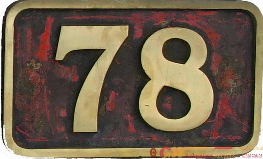 Cabside Numberplate 78, Ex Manchester Ship Canal