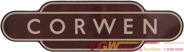 Totem, BR(W) CORWEN, F/F. Ex GWR Station Between