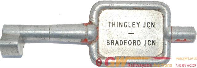 Alloy Key Token THINGLEY JCN - BRADFORD JCN. Ex